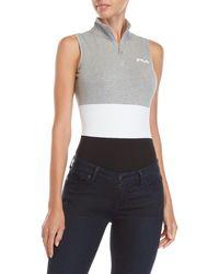 Fila - Bianca Quarter-zip Bodysuit - Lyst