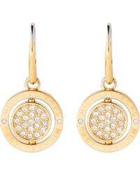 Michael Kors - Gold-tone Flip Glitz Drop Embellished Earrings - Lyst