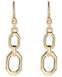 Ivanka Trump - Gold-tone Double Drop Earrings - Lyst
