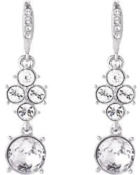 Givenchy - Silver-tone Double Drop Earrings - Lyst