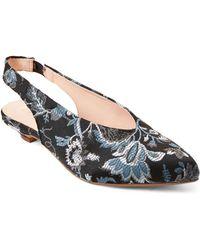 Gabriella Floral Slingback Kitten Heel Pumps
