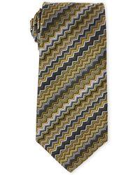 Missoni - Olive Zigzag Silk Tie - Lyst
