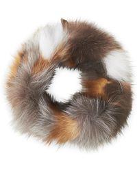 Adrienne Landau - Real Fur Magnetic Neck Warmer - Lyst
