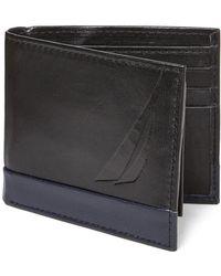 Nautica - Black & Navy Astern Passcase Wallet - Lyst