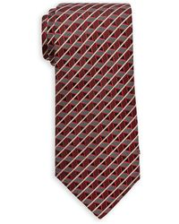 Missoni Red Stripe Diamond Silk Tie