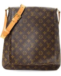 Lyst - Louis Vuitton Monogram Canvas Shoulder Bag M51257 Musette ... 801fe5d890ed3