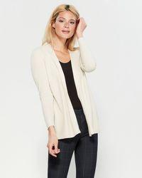 258b74e8ea783 Lyst - August Silk Petite Color Block Knit Poncho Top in Black