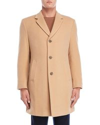 Tommy Hilfiger - Camel Barnes Button Coat - Lyst