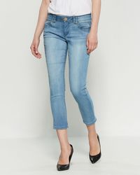 Democracy - Light Wash Ab Technology Ankle Skinny Jeans - Lyst