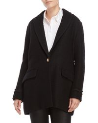 Maje - Black Tweed Jacket - Lyst