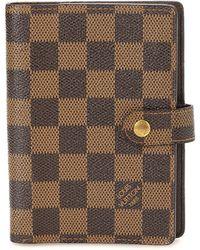 Louis Vuitton - Damier Ebene Small Ring Agenda Cover - Vintage - Lyst