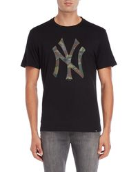 47 Brand - New York Yankees Camo Logo Tee - Lyst