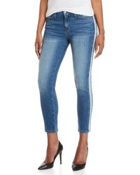 Flying Monkey - Mid-rise Stripe Skinny Jeans - Lyst