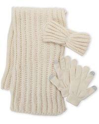 Betsey Johnson - 3-piece Scarf Headband & Glove Gift Set - Lyst