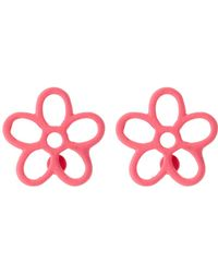 Marc By Marc Jacobs | Rubberized Daisy Stud Earrings | Lyst