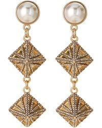 Lulu Frost - Gold-tone Apex Faux Pearl Drop Earrings - Lyst