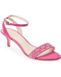 Pelle Moda - Sugar Plum Otis Laser-cut Sandals - Lyst