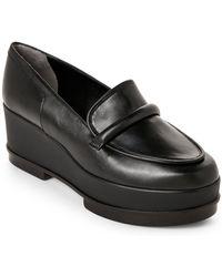 Robert Clergerie - Yokole Leather Platform Wedge Loafers - Lyst