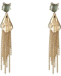 Alexis Bittar - Gold-tone Crystal-accented Tassel Earrings - Lyst