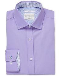 Con.struct - Lavender Slim Fit Dress Shirt - Lyst