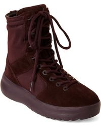 Yeezy - Oxblood Season 6 Nylon Military Boots - Lyst