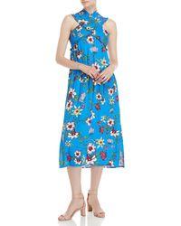 Lush - Floral Smocked Crisscross Midi Dress - Lyst