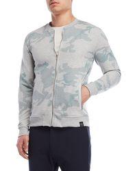 Kultivate - Light Grey Camo Full-zip Sweatshirt - Lyst