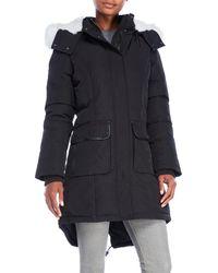 Pajar - Grace Real Fur Trim Hooded Coat - Lyst