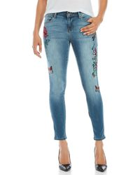 Earl Jean - Embroidered Skinny Jeans - Lyst