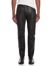 Balmain - Black Coated Tapered Jeans - Lyst