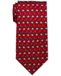 Pierre Cardin - Elephant Print Silk Tie - Lyst