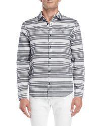 Original Penguin - Horizontal Stripe Heritage Slim Fit Shirt - Lyst