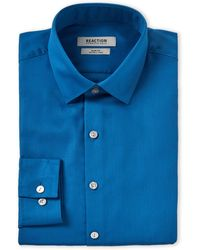 Kenneth Cole Reaction - Blue Mist Slim Fit Dress Shirt - Lyst