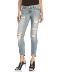 Eunina - Lennon Low-Rise Distressed Jeans - Lyst