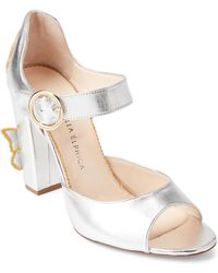 Camilla Elphick - Silver Butterfly Effect Embroidered Sandals - Lyst