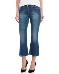 Scotch & Soda - Grace Spirt Cropped Flare Jeans - Lyst