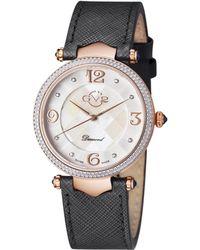 Gv2 - 1001 Sassari Rose Gold-tone & Black Diamond Watch - Lyst