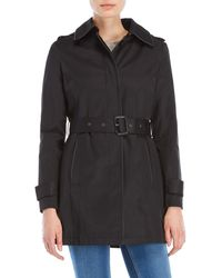 Lauren by Ralph Lauren - Hooded Trench Coat - Lyst