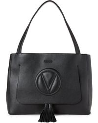 Valentino By Mario Valentino - Black Ollie Leather Shoulder Bag - Lyst