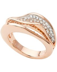 c6c5c6c2f Swarovski Rose Gold-tone Every Wide Ring in Metallic - Lyst