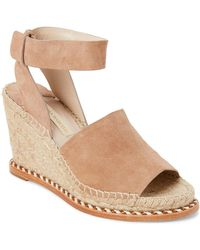 Paloma Barceló - Nude Marseille Suede Wedge Espadrilles - Lyst