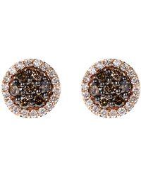 Effy - 14K Rose Gold Stud Earrings - Lyst