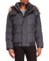Marc New York - Clermont Faux Fur Trim Down Coat - Lyst