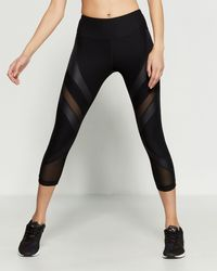 4c0ecb3816a77 Reebok Black Duplex Performance Leggings in Black - Lyst