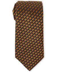 Missoni - Olive & Brown Patterned Silk Tie - Lyst