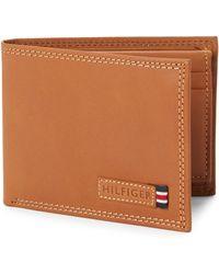 258cb3d9 Tommy Hilfiger Men's Leather Palmer Hipster Wallet in Green for Men - Lyst