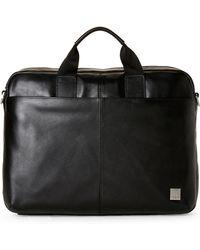 Knomo - Black Durham Slim Laptop Briefcase - Lyst