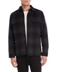 Vince - Wool Plaid Military Shirt Jacket - Lyst