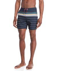Original Penguin - Engineered Bold Stripe Volley Swim Shorts - Lyst