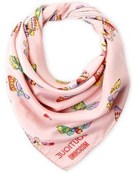 Boutique Moschino - Butterfly Silk Scarf - Lyst